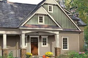 Exterior Craneboard Siding Fits in Natural Environment