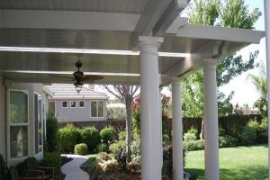 Solid Patio Cover with Custom Columns