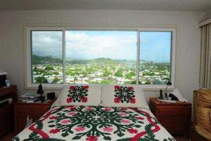 New Bedroom Windows with Grogeous Hawiian View