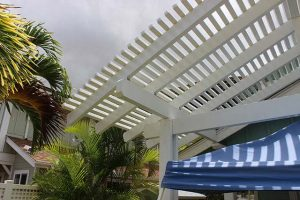 Patio Cover With Clouds in Background