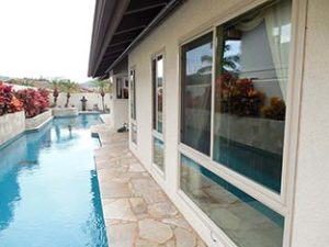 replacement Windows Next to Unique Lap Pool