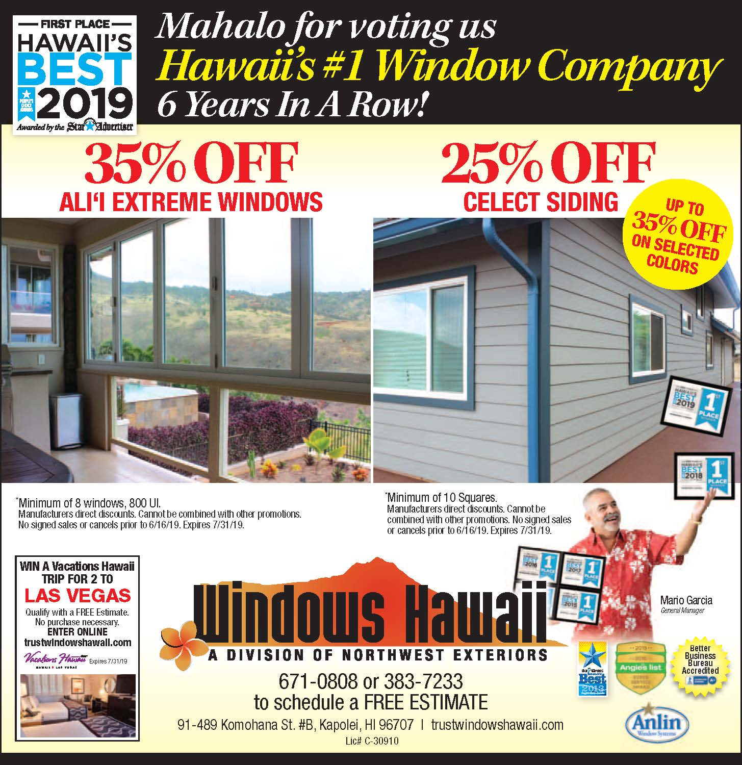 Special Offer by Windows Hawaii