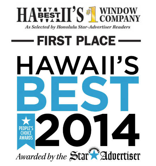 Windows Hawaii Wins 2014 Best Window Company in Hawall