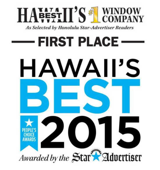 Windows Hawaii Wins 2015 Best Window Company in Hawall