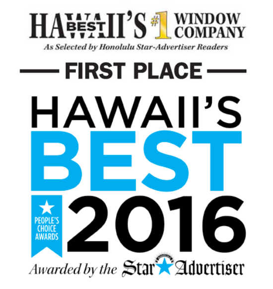 Windows Hawaii Wins 2016 Best Window Company in Hawall