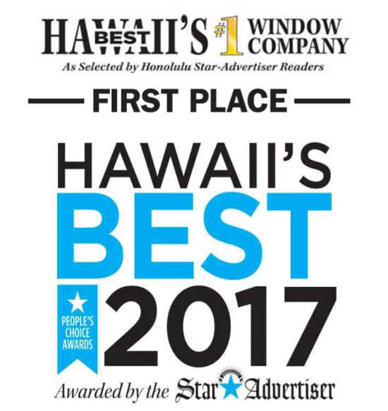Windows Hawaii Wins 2017 Best Window Company in Hawall